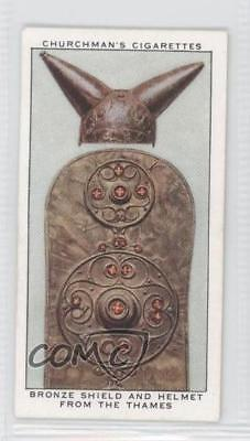 1937 Churchman's Treasure Trove #5 Bronze Shield and Helmet from the Thames 0a1