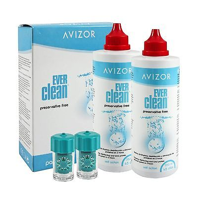 Avizor Ever Clean 750ml 2 x 350ml + 90 tablets + 1 Case 3 months supply
