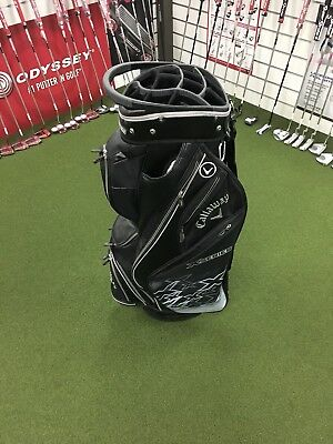 Callaway X Series Staff Trolley Cart Bag Black/Silver *NEW* (Shop Soiled)