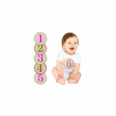 Pearhead Pink First Year Month Milestone 12 Photo Belly Stickers FREE SHIPPING!