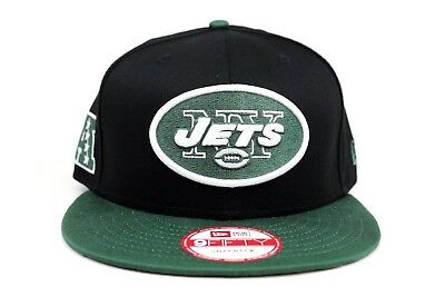 e7182ac3b4f New York Jets Black Green White Baycik Snap NFL M L New Era 9Fifty Snapback
