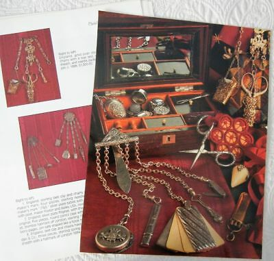16p History Article + Pics - Antique Chatelaines and Accessories Sewing Tools