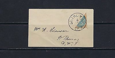 1896-1901 U.S./Danish West Indies Scott 18c on cover St. Thomas (3/4/1903)