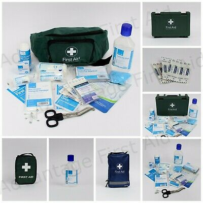 Travel & Vehicle First Aid Kit, Box, Bag, Refill & Eyewash Top Up. BSi Compliant