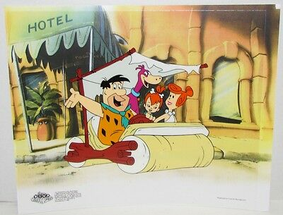 """The Flintstones Sericel """"Family Outing"""" with COA"""