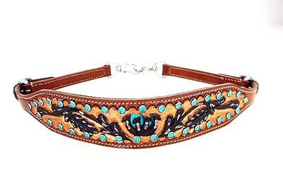 Western Barrel Rodeo Show Horse Breast Collar Leather Wither Strap Trail Tack