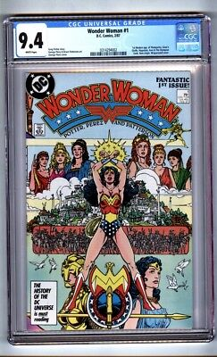 Wonder Woman #1 (CGC 9.4) White p; New origin; Pérez-c/a begins; 1987 (c#16093)