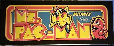 """Ms Pacman Arcade Marquee 23"""" x 9"""""""