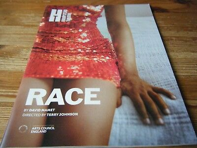 2000s   THEATRE PROGRAMME -    RACE  -   AT THE HAMPSTEAD  THEATRE -   VGC
