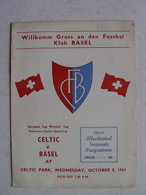 Celtic v Basel 1963/64 Cup Winners Cup