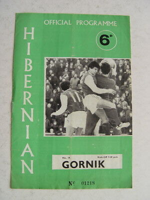 Hibernian v Gornik 1979/80 Friendly