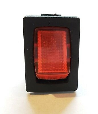 Red Mini Illuminated On / Off Switch 10A @ 125Vac Rv Camper 12V Water Panel Spst