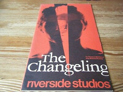 Theatre Programme  - The  Changeling  -  At The Riverside Studios - Hammersmith