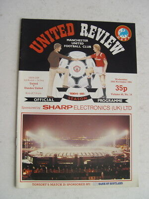 Manchester United v Dundee United 1984/85 UEFA Cup