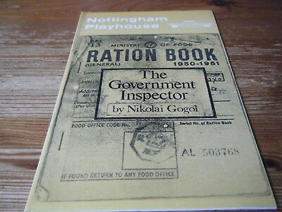 1974   Theatre Programme  -  The Government Inspector - Nottingham Playhouse Vgc