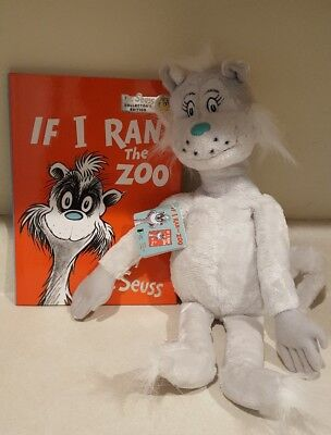 If I Ran the Zoo book & Plush - new with tags