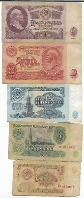 Rare Old CCCP Cold War Russian Rubles Dollar Money LENIN Currency Bank Note Lot