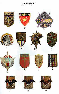 FRANCE- VIETNAM - Commandos Partisans d'INDOCHINE-1945-1954 Insignes militaires