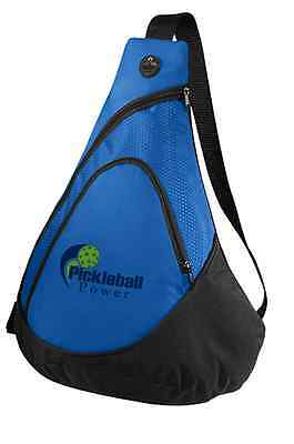 PICKLEBALL MARKETPLACE Honeycomb Sling Bag- New/Embroidered-Carry Paddles - Blue
