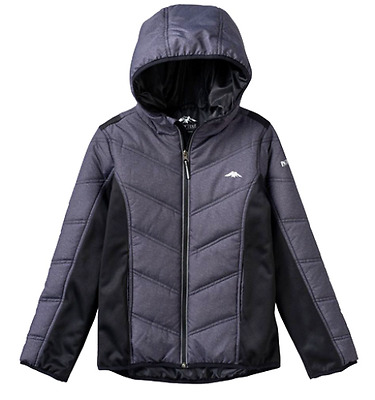PACIFIC TRAIL Boys Mix Media L/S Gray Hooded JACKET Large L (14-16) NWT