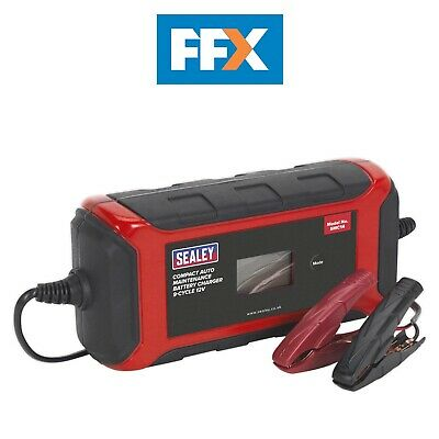 Sealey SMC14 Battery Charger Compact Auto Maintenance - 9-Cycle 12V