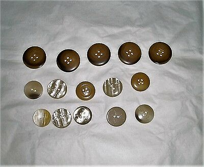 mixed lot buttons - sewing supplies - assorted