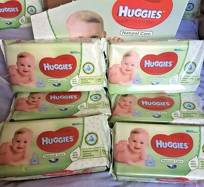 Huggies Natural Care Baby Wipes - 6 Packs,  With Aloe Vera Gentle Soothing Care.