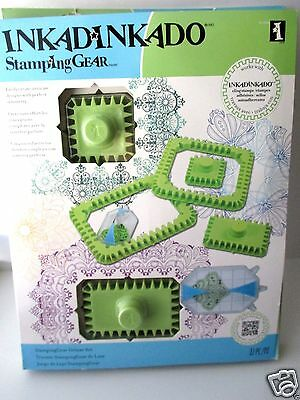Inkadinkado Stamping Gear Deluxe Set New 22 Piece FREE SHIP Square & Rectangle