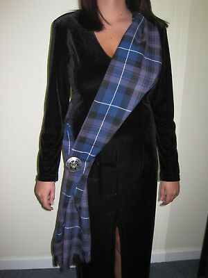 "Ladies OR Mens PRIDE OF SCOTLAND Scottish Tartan Sash Scarf 88"" X 11"""