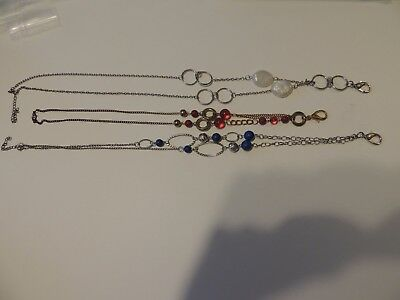 lot of 3 Paparazzi lanyard necklaces red white blue lot 1 FREE SHIPPING