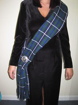 "Ladies OR Mens Douglas Scottish Tartan Sash Scarf 88"" X 11"""