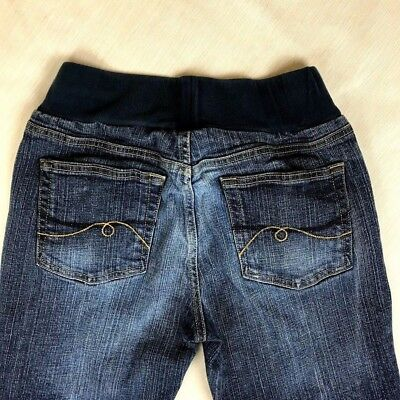 Motherhood Maternity Jeans Sz Small Straight Leg Dark Wash