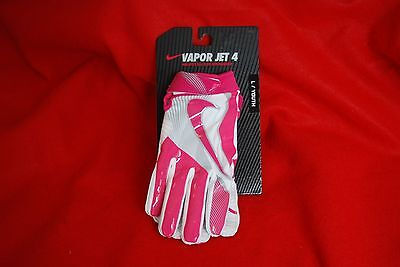 Nike Vapor Jet 4 Youth BCA Edition Football Gloves Pink GF0560-616 Youth Size L