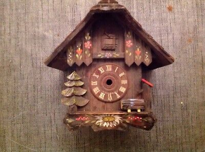Antique Black Forest Cuckoo Clock Case For Restoration Or Spare Parts 19x18x15cm