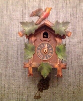 Antique Black Forest Cuckoo Clock For Restoration Or Spare Parts 22x16x13cm
