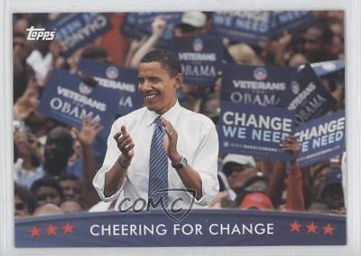 2008 Topps President Obama Collector Trading Cards #42 Cheering for Change 0s5