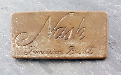 HTF 1920's Nash Precision Built Emblem/Badge Brass Era Crest