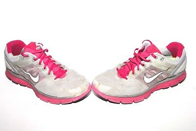 Nike 407647-002 Lunarglide 2 Womens Size 11 Athletic Running Sneakers Pink Gray