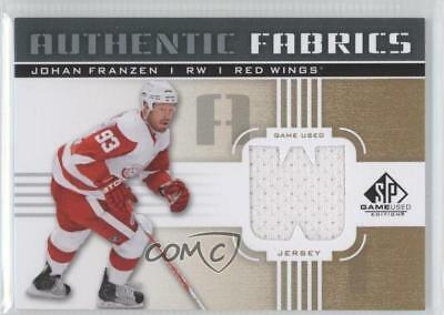 2011 SP Game Used Edition Authentic Fabrics Gold #AF-JF.1 Johan Franzen (W) Card