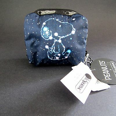 LeSportsac NEW Snoopy Peanuts Constellation Square Cosmetic Bag Pouch