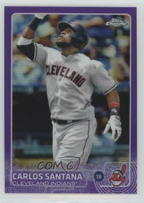 2015 Topps Chrome Purple Refractor/250 #97 Carlos Santana Cleveland Indians Card
