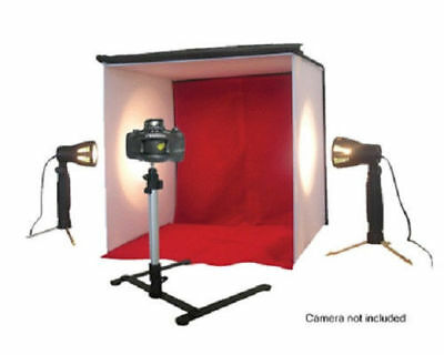 Portable Lighting Studio PHOTO TENT 2 Lights & Camera Stand TAKE BETTER EBAY PIC
