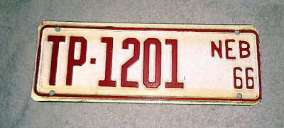 1966 Nebraska Transport License Plate 1201  NOS