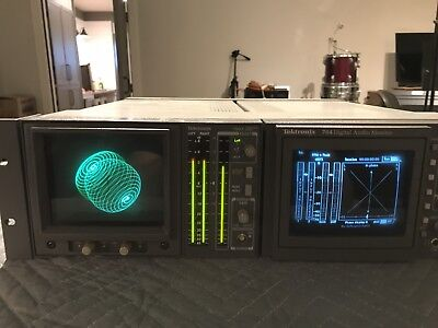 TEKTRONIX 760a & 764 ANALOG & DIGITAL AUDIO  MONITOR  IN RACK
