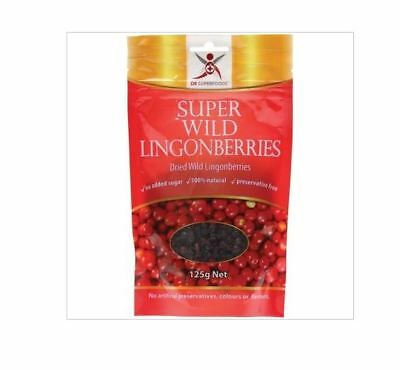 3 x 125g DR SUPERFOODS Super Wild Lingonberries