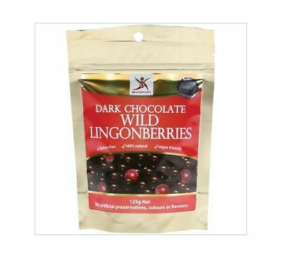 3 x 125g DR SUPERFOODS Dark Chocolate Wild Lingonberries