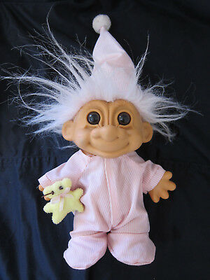 Troll Doll in Pyjamas Vintage RUSS ~ COLLECTABLE 1980s / 90s