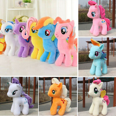 "UK 10"" new LittlePony Horse Figures Stuffed Plush Soft Teddy Doll Toys Kids Toy"