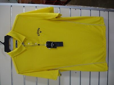 CALLAWAY  MEN'S FASHION POLO 1 - YELLOW - SIZE LARGE - On Sale -SAVE 50%+!