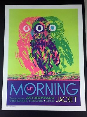 My Morning Jacket The Greek Theatre LA Show Concert Poster Neon Kii Arens 2010